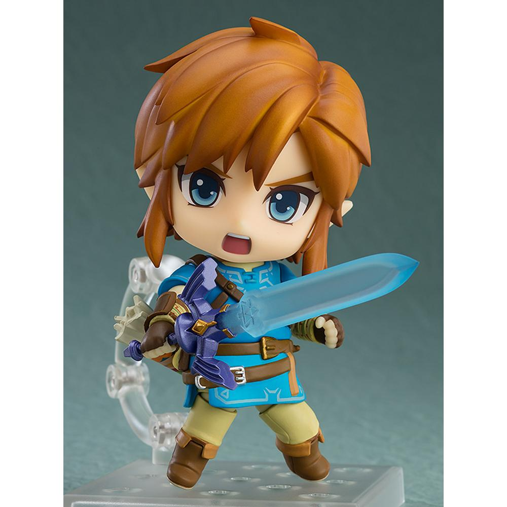 "The Legend of Zelda Breath Of The Wild Nendoroid Link 4/"" Figure Model Toy In Box"