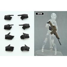 LittleArmory-OP3: figma Tactical Gloves (Stealth Black)